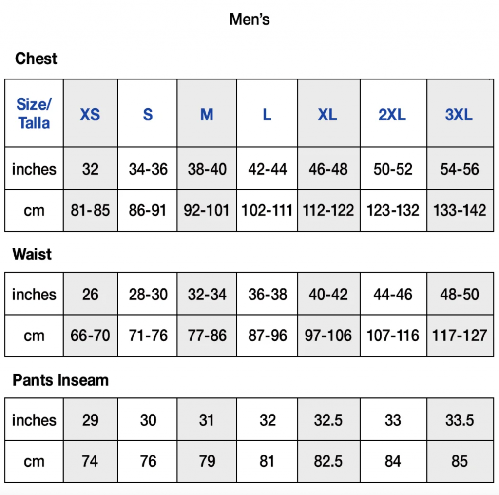 Champion Reverse Weave Hoodie Sizing Guide