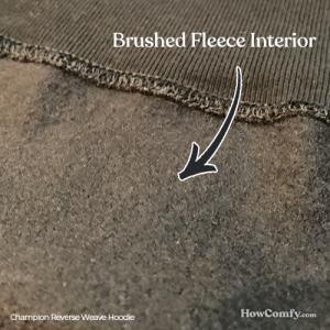 Champion reverse weave inside fleece fabric