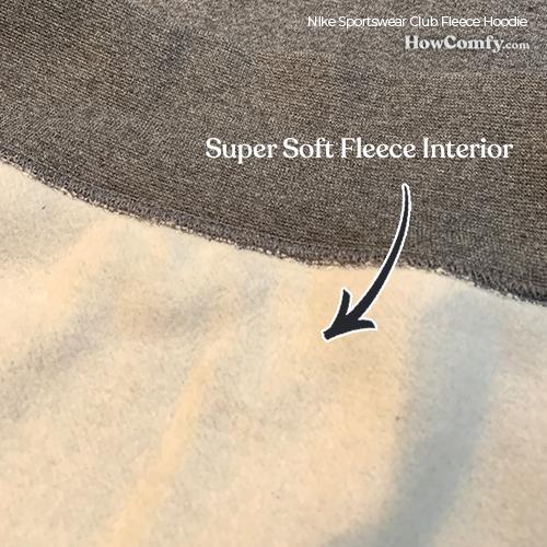 Nike sportswear club fleece hoodie inside - soft fleece