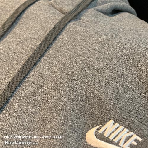 Nike Sportswear Club Hoodie outside fabric close-up photo