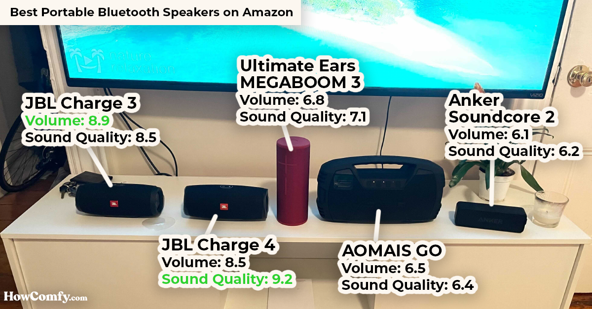 best bluetooth speakers on Amazon