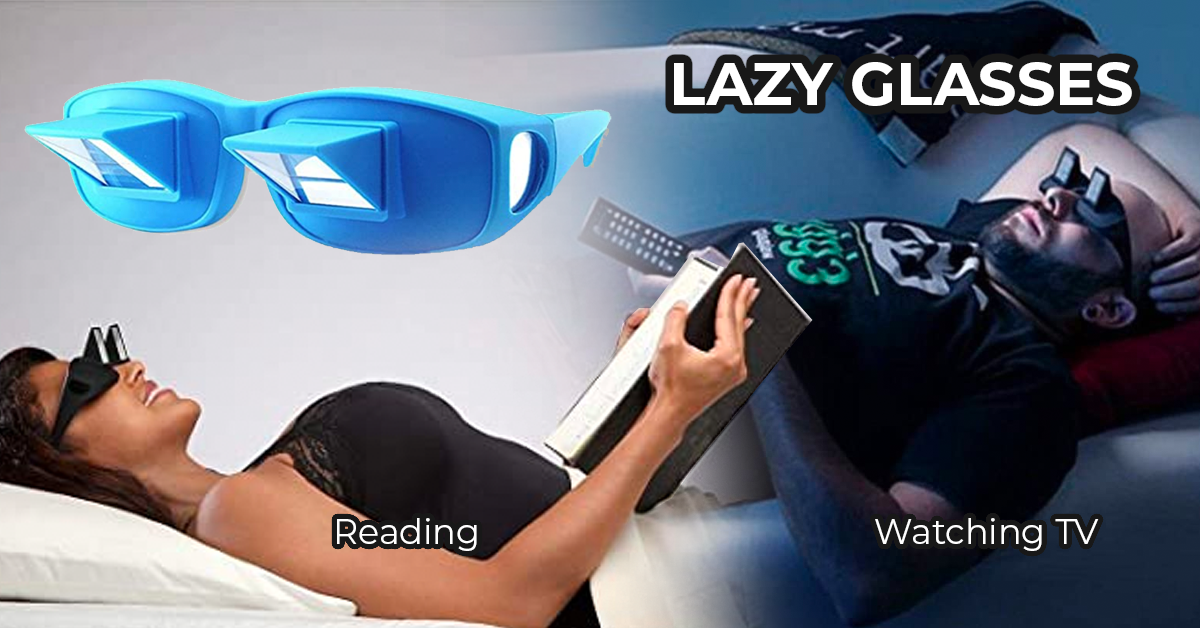 Lazy reader glasses for watching tv and reading at. 90 degree angle